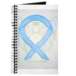 Light Blue Ribbon Angel Journal