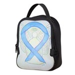 Light Blue Ribbon Angel Neoprene Lunch Bag