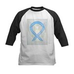 Light Blue Ribbon Angel Baseball Jersey