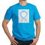 Light Blue Ribbon Angel T-Shirt