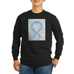 Light Blue Ribbon Angel Long Sleeve T-Shirt