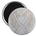 White Ribbon Angel Magnets