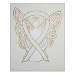 White Ribbon Angel Posters