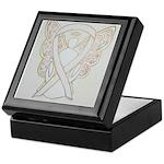 White Ribbon Angel Keepsake Box