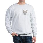 White Ribbon Angel Sweatshirt