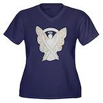 White Ribbon Angel Plus Size T-Shirt