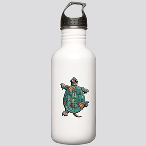 Red Teal Paisley Stainless Water Bottle 1.0L