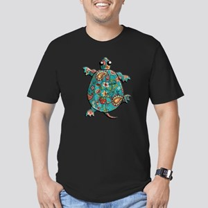 Red Teal Paisley Men's Fitted T-Shirt (dark)