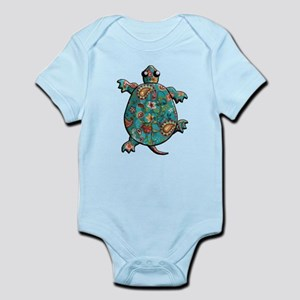 Red Teal Paisley Infant Bodysuit