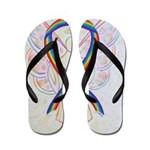 Rainbow Ribbon Angel Flip Flops