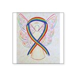 Rainbow Ribbon Angel Sticker