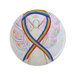 Rainbow Ribbon Angel 3.5
