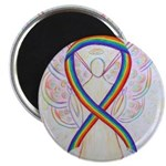 Rainbow Ribbon Angel Magnets