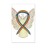 Lgbtq Rainbow Awareness Ribbon 20x12 Wall Decal