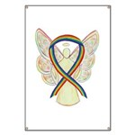 Lgbtq Rainbow Awareness Ribbon Angel Banner