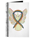 Rainbow Awareness Ribbon Lgbtq Angel Journal