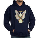 Rainbow Awareness Ribbon Lgbtq Angel Hoodie (dark)
