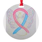 Pink and Blue Angel Ornament