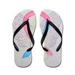 Pink and Blue Angel Flip Flops