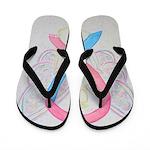 Pink and Blue Angel Flip Flops