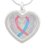 Pink and Blue Angel Necklaces