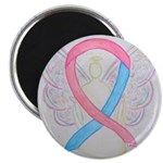 Pink and Blue Angel Magnets
