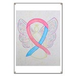 Pink and Blue Angel Banner