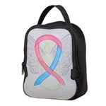 Pink and Blue Angel Neoprene Lunch Bag