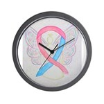 Pink and Blue Angel Wall Clock