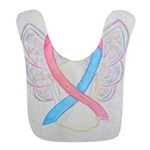 Pink and Blue Angel Bib