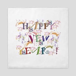 Happy New Year! Queen Duvet