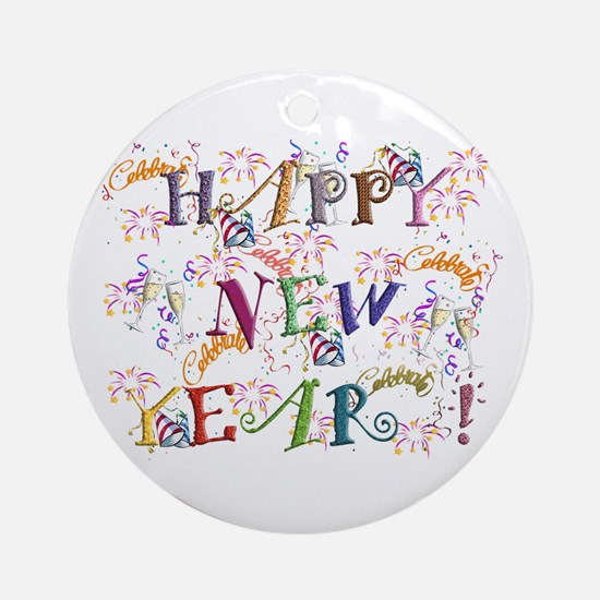 Happy New Year! Ornament (round)