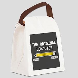 original computer Canvas Lunch Bag