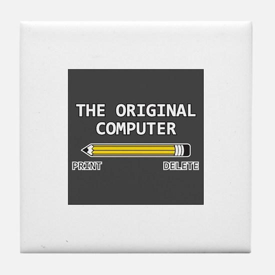 original computer Tile Coaster