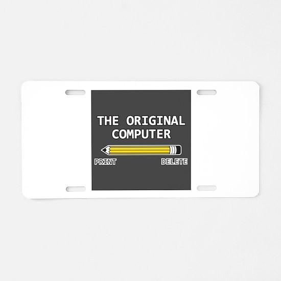 original computer Aluminum License Plate