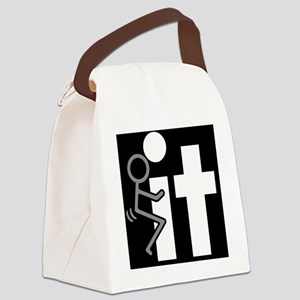 fuck it Canvas Lunch Bag