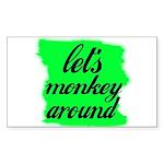 LET'S MONKEY AROUND Rectangle Sticker