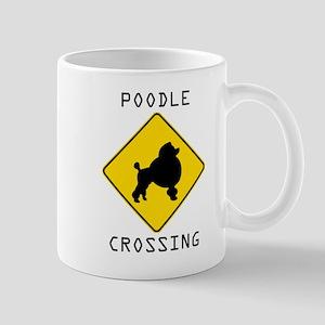 Poodle Crossing Mugs