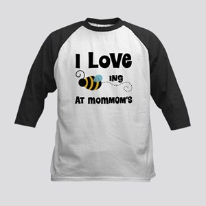 Beeing At MomMom's Kids Baseball Jersey