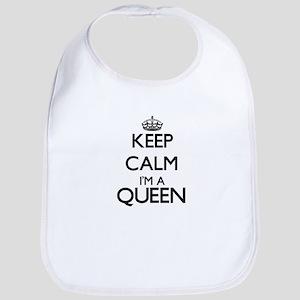 Keep calm I'm a Queen Bib