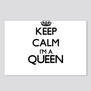 Keep calm I'm a Queen Postcards (Package of 8)