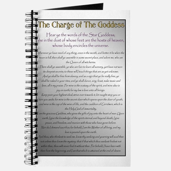 Charge of the Goddess Journal (Silver Tone)