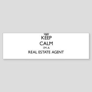 Keep calm I'm a Real Estate Agent Bumper Sticker