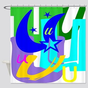 Initial Design (U) Shower Curtain