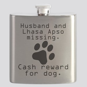 Husband And Lhasa Apso Missing Flask