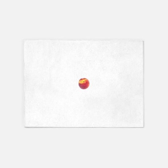 Single Smooth Peach 5'x7'Area Rug