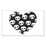 HEART SKULL Rectangle Sticker