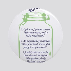 Bless Your Heart Ornament (Round)