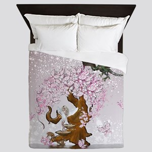 Fantasy Faerie Butterflies and Dragon Queen Duvet