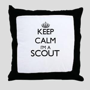 Keep calm I'm a Scout Throw Pillow